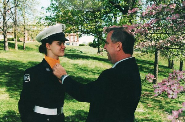 2001, military school. In which we have a proud-off.